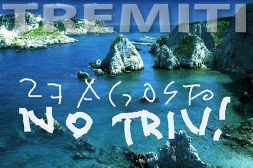 No Triv – In 3.000 circondano l'isolotto del Cretaccio (Tremiti)