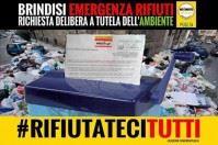 #Rifiutatecitutti, emergenza rifiuti nella provincia di Brindisi