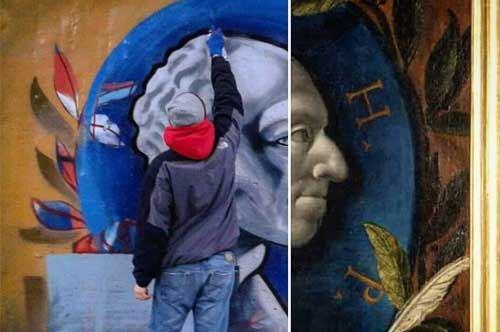 #Iononmilasciofregare: e sui muri di Lecce rispunta Tintoretto