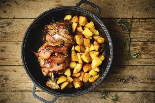 Agnello con patate al forno