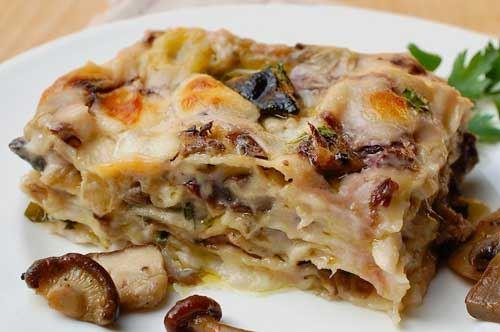 Lasagna burrata e funghi