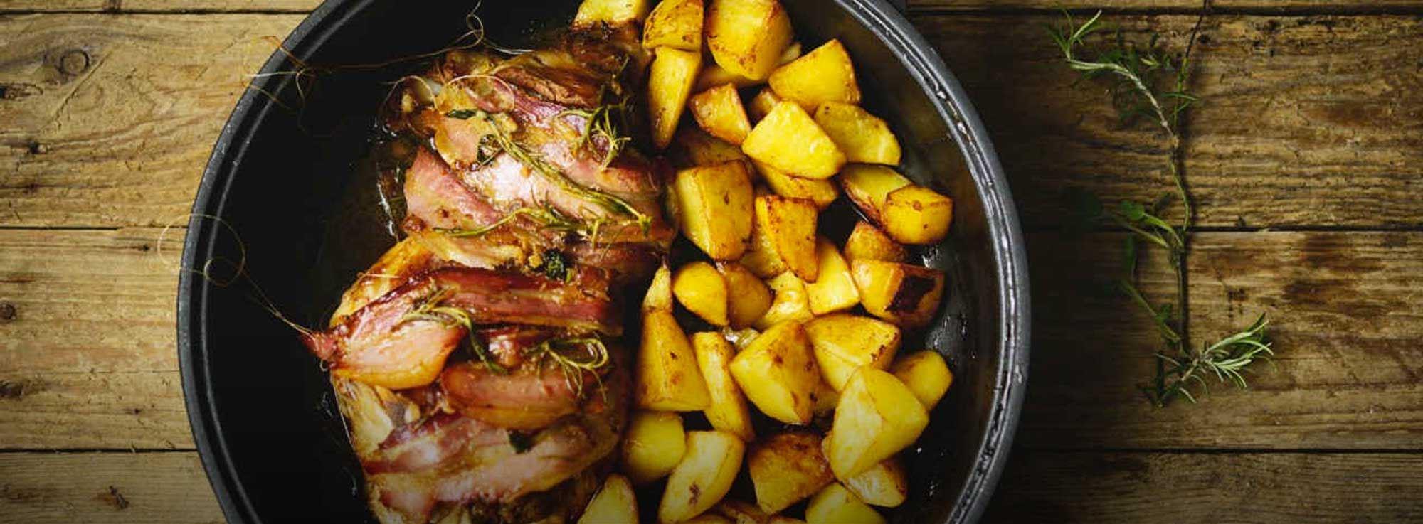 Ricetta: Agnello al forno con patate