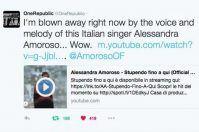 OneRepublic & Alessandra Amoroso, i complimenti in musica viaggiano su Twitter