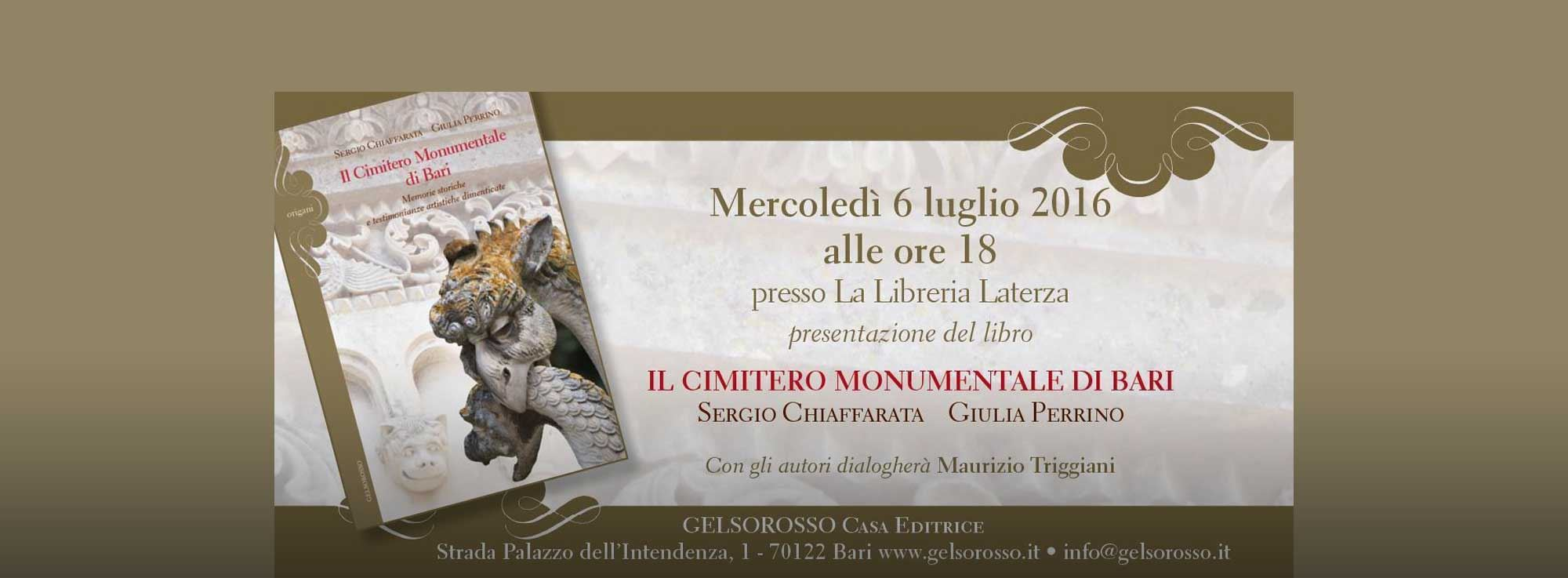 Bari: Il Cimitero Monumentale di Bari - Presentazione libro