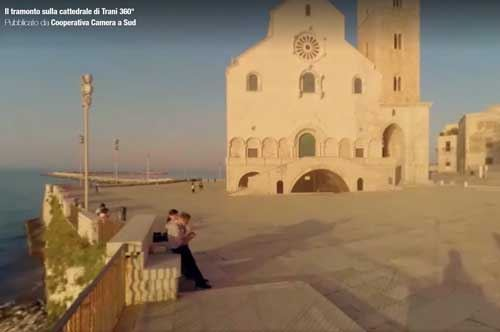 Trani a 360 gradi, la perla di Puglia è in timelapse
