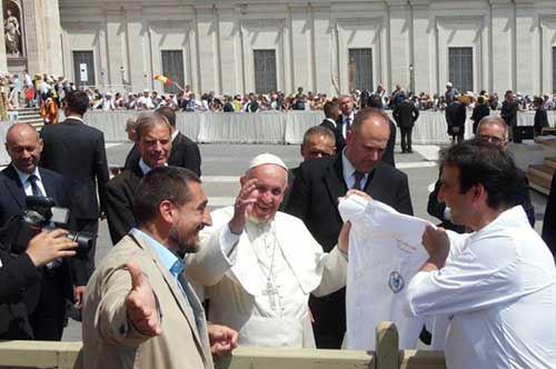 La pizza pugliese donata a Papa Francesco