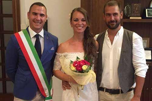 Jonas e Jasmine, due turisti tedeschi decidono di sposarsi a Lecce