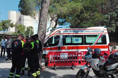 Castel del Monte, ecco l'ambulanza a tutela del maniero