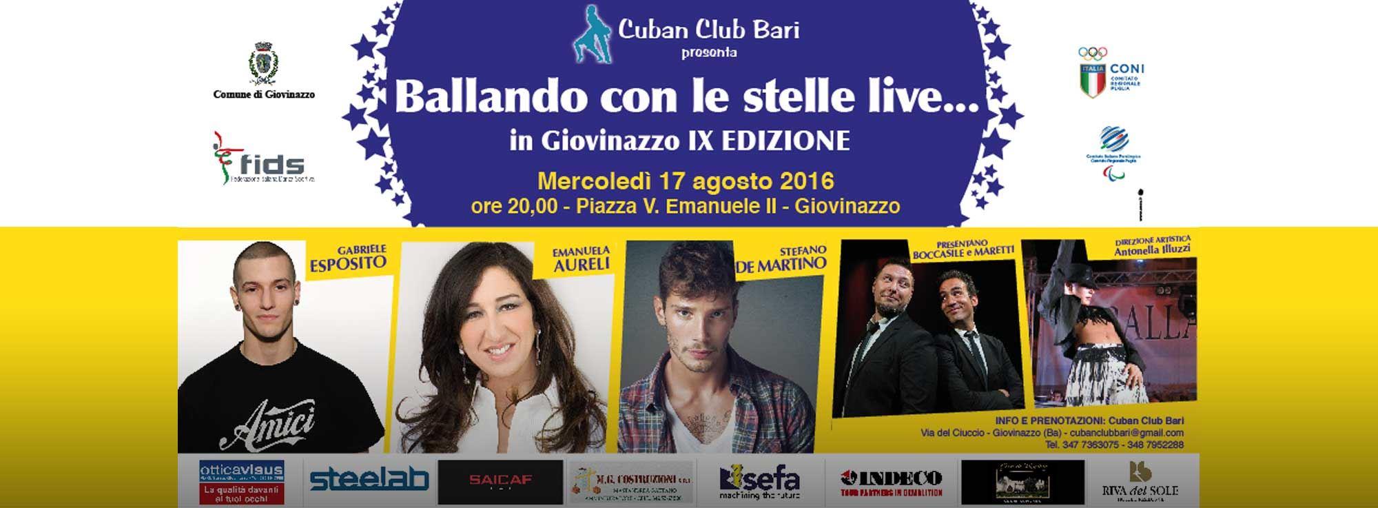 Giovinazzo: Ballando con le stelle live