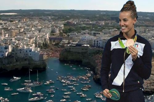 Red Bull Cliff Diving, a Polignano arriva anche Tania Cagnotto