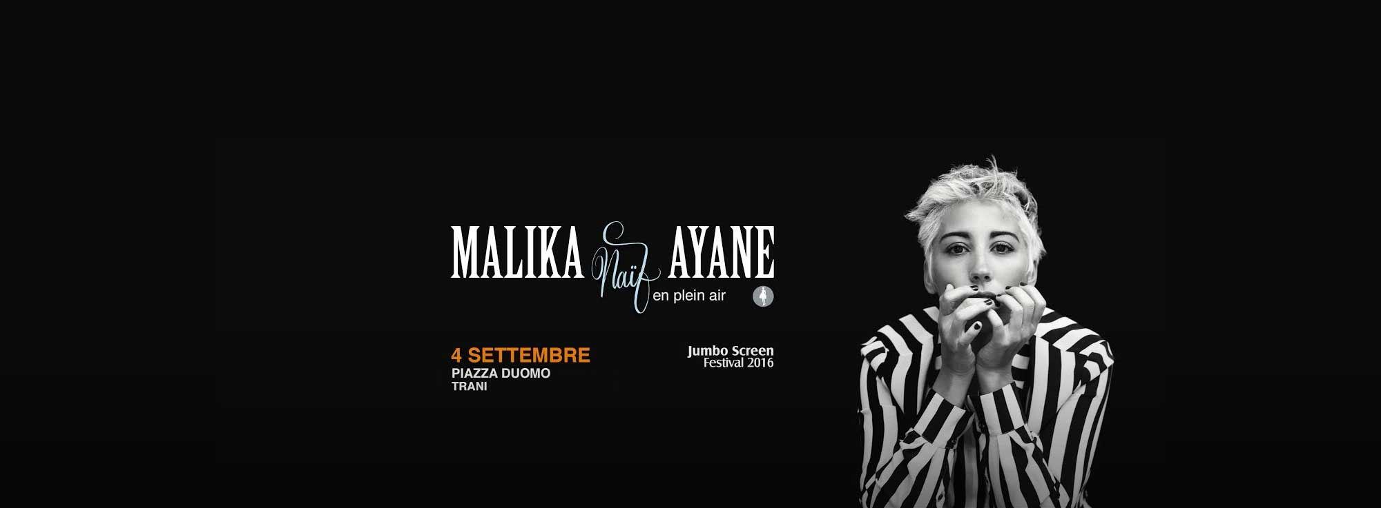 Trani: Malika Ayane in concerto - Naif en plein air Tour
