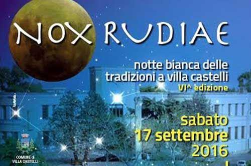 Nox Rudiae, la Notte Bianca delle tradizioni