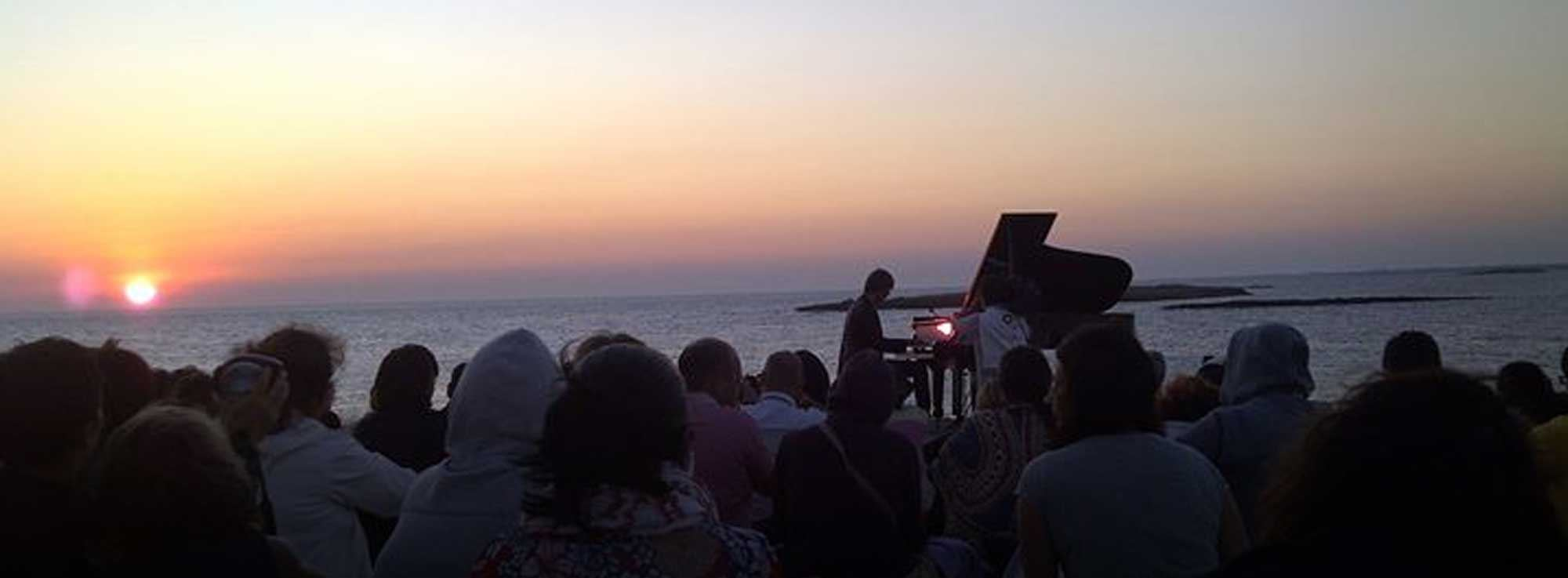 Torre Guaceto: Robert Bisha: concerto all'alba