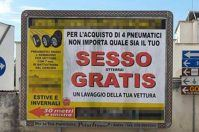"""""""Sesso gratis""""? No, è la trovata pubblicitaria di un meccanico di Salve"""