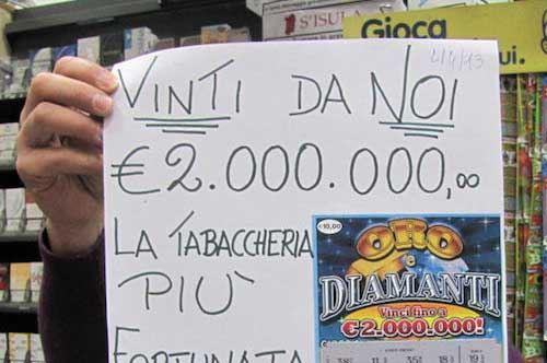 """Stornara, vinti 2 milioni di euro al """"gratta e vinci"""""""