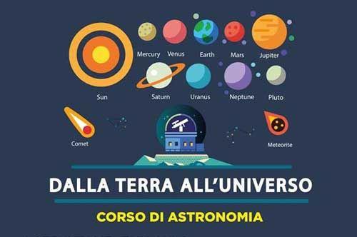 Dalla Terra all'Universo, corso di astronomia
