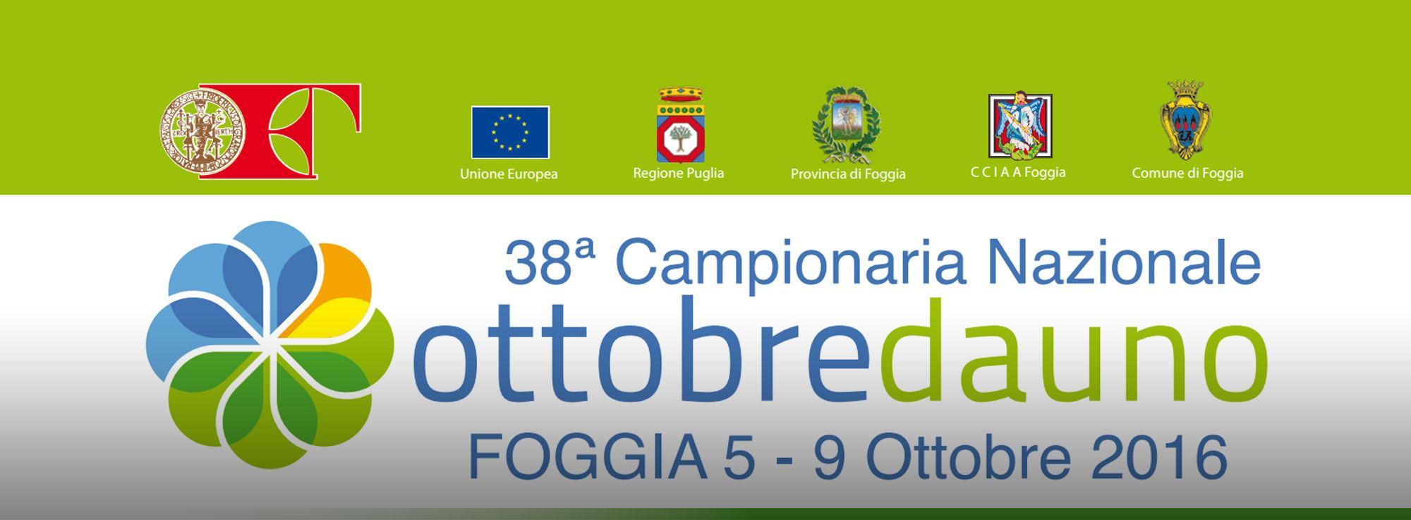 Foggia: Ottobre Dauno, Campionaria Nazionale 2016