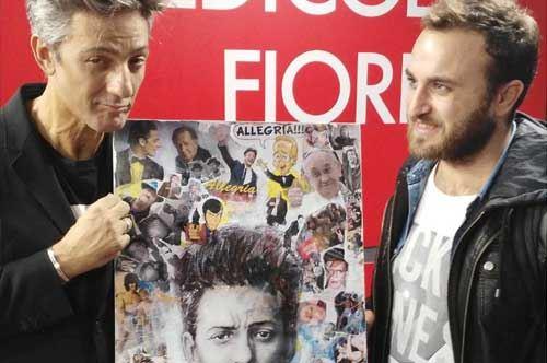 Fiorello su tela, l'omaggio dell'artista coratino Vincenzo Mascoli