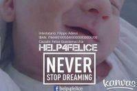 Help4Felice, catena di solidarietà per il piccolo angelo di Terlizzi