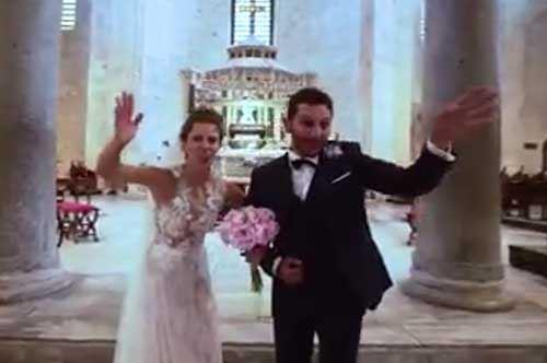 Dal filmino al videoclip: gli sposini Tommy e Rossella ballano con Max Gazzè