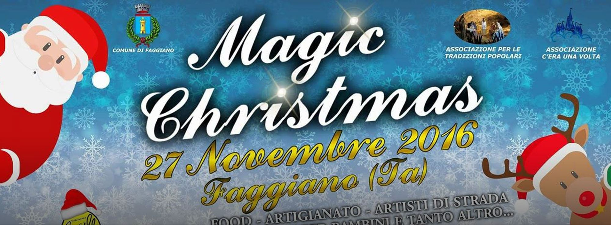 Faggiano: Magic Christmas 2016, mercatino di Natale
