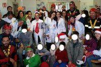 """""""Fazzi"""" di Lecce, Babbo Natale e Spiderman consegnano doni nel reparto di Pediatria"""