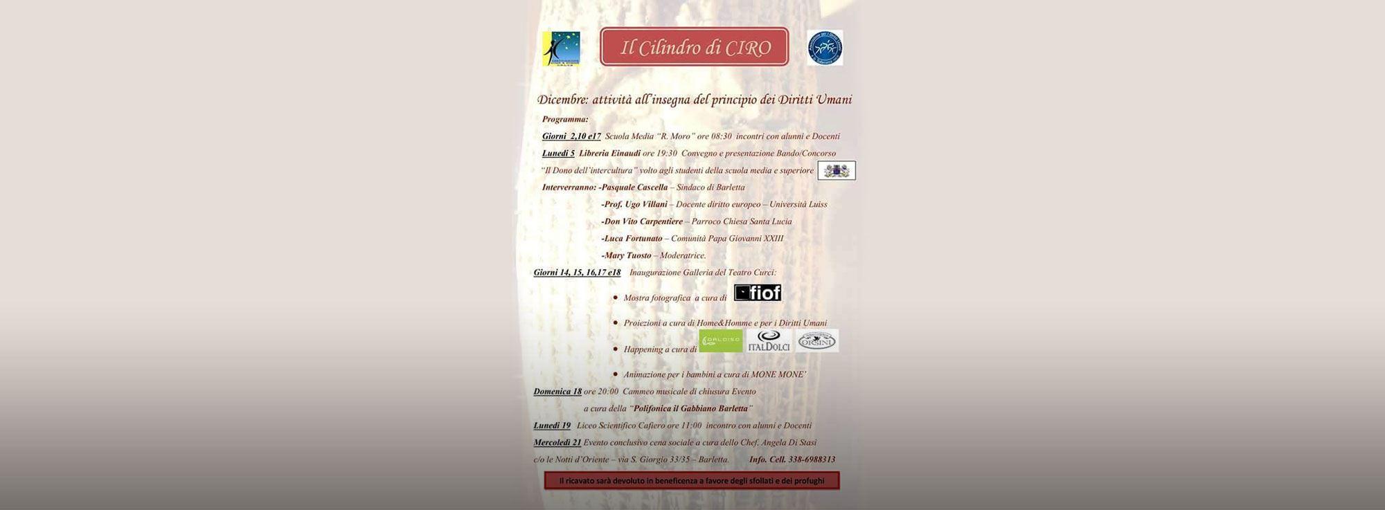 Barletta: Il Cilindro di Ciro