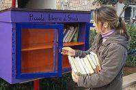 Serranova, c'è una libreria di strada di fronte al mare: le foto