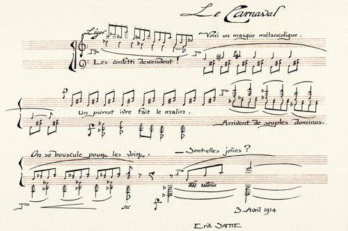 Tre serate in forma di Erik Satie