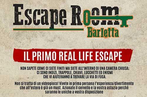 Escape Room, a Barletta la più grande sede del Sud Italia
