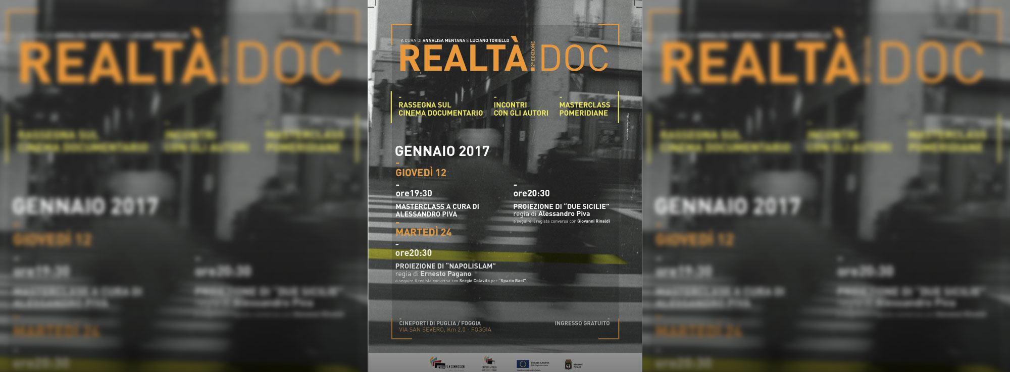 Foggia: Realtà.doc, la rassegna sul cinema documentario