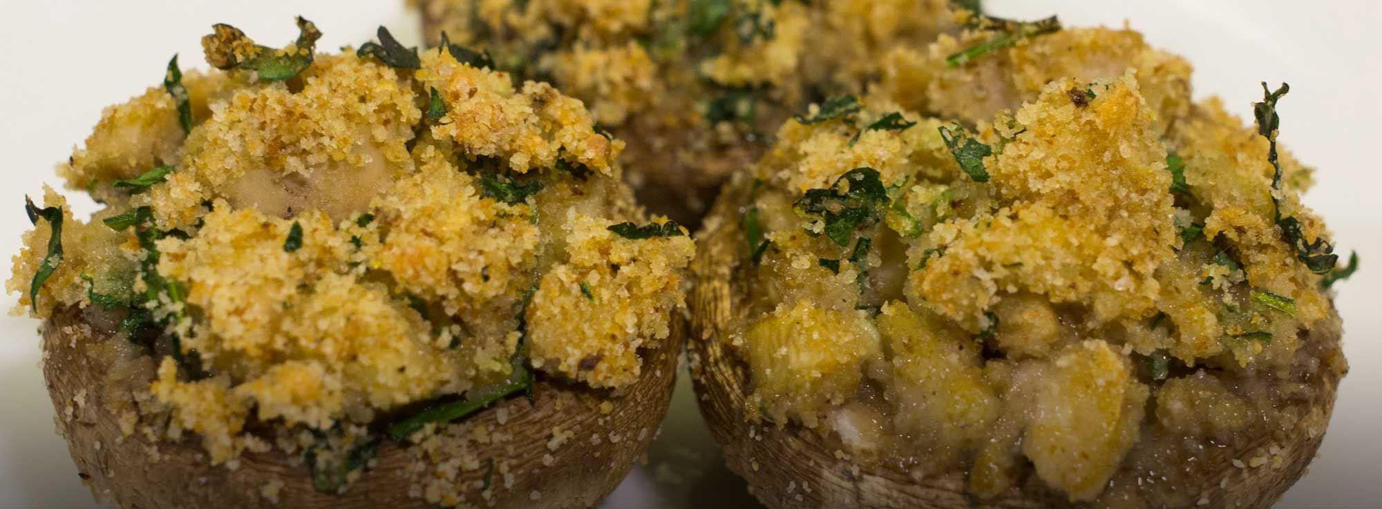 Ricetta: Funghi champignon ripieni, gratinati al forno