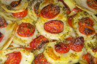 Teglia di patate e pomodori agli aromi
