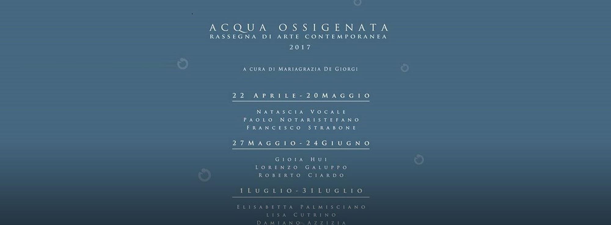 Barletta: Acqua ossigenata - rassegna d'arte contemporanea