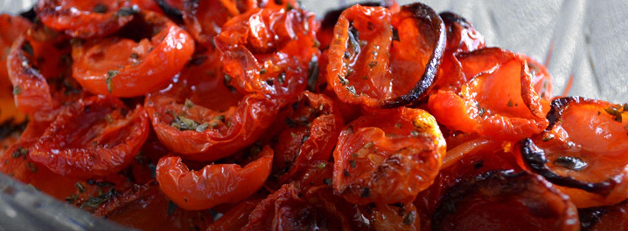 Ricetta: Pomodorini caramellati al forno