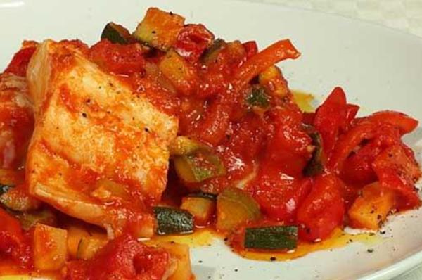 Stoccafisso con verdure al forno