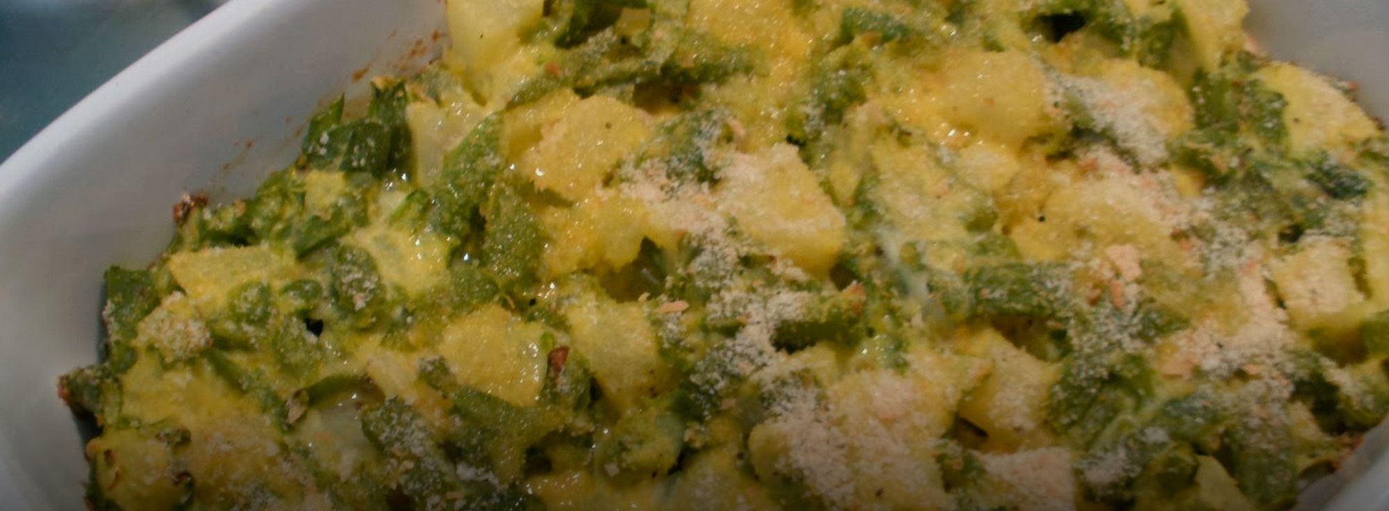 Ricetta: Pasticcio di fagiolini e patate gratinati