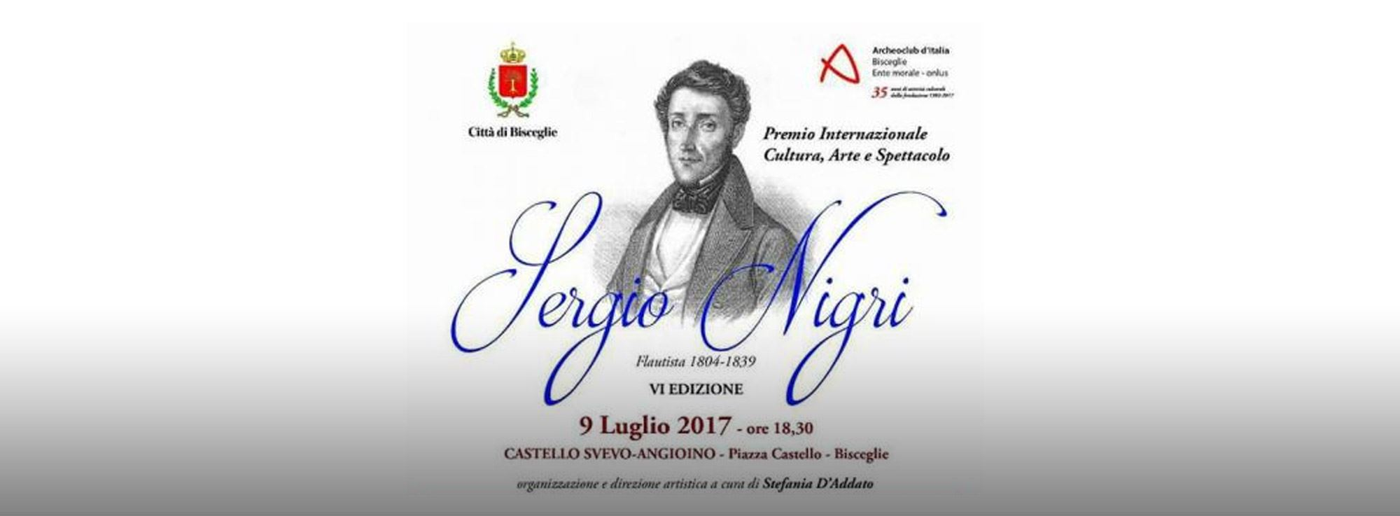 Bisceglie: Premio Cultura arte e spettacolo Sergio Nigri