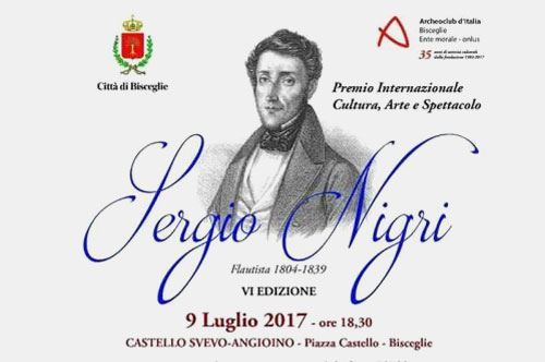 Premio Cultura arte e spettacolo Sergio Nigri