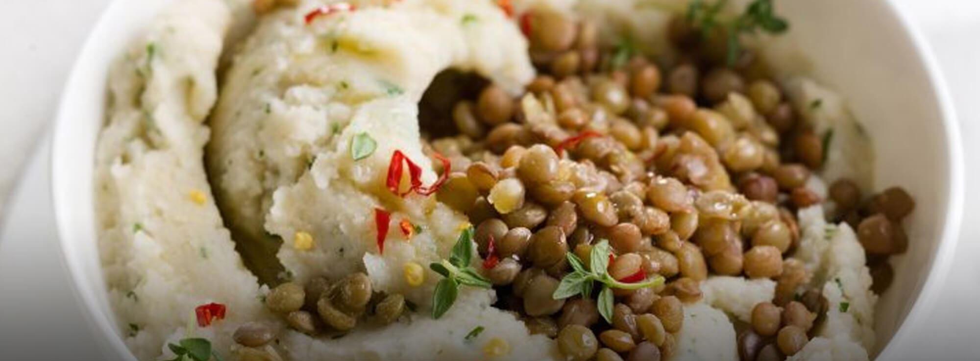 Ricetta: Purè di patate e lenticchie