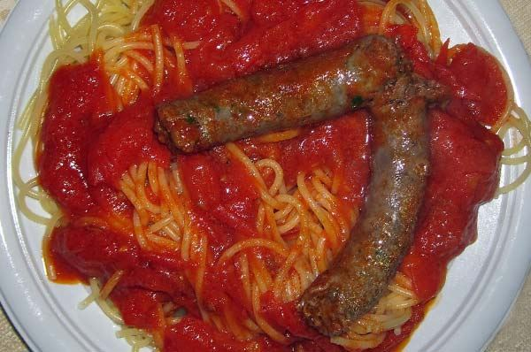 spaghetti salsiccia