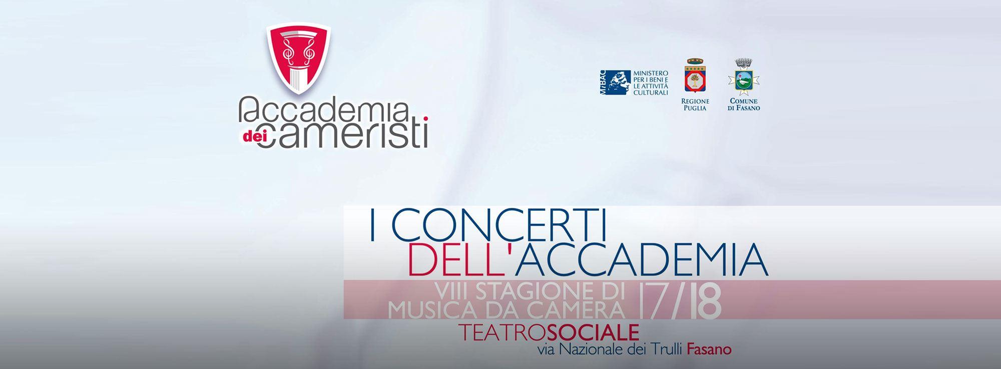 Fasano: VIII stagione concertistica - Accademia dei Cameristi