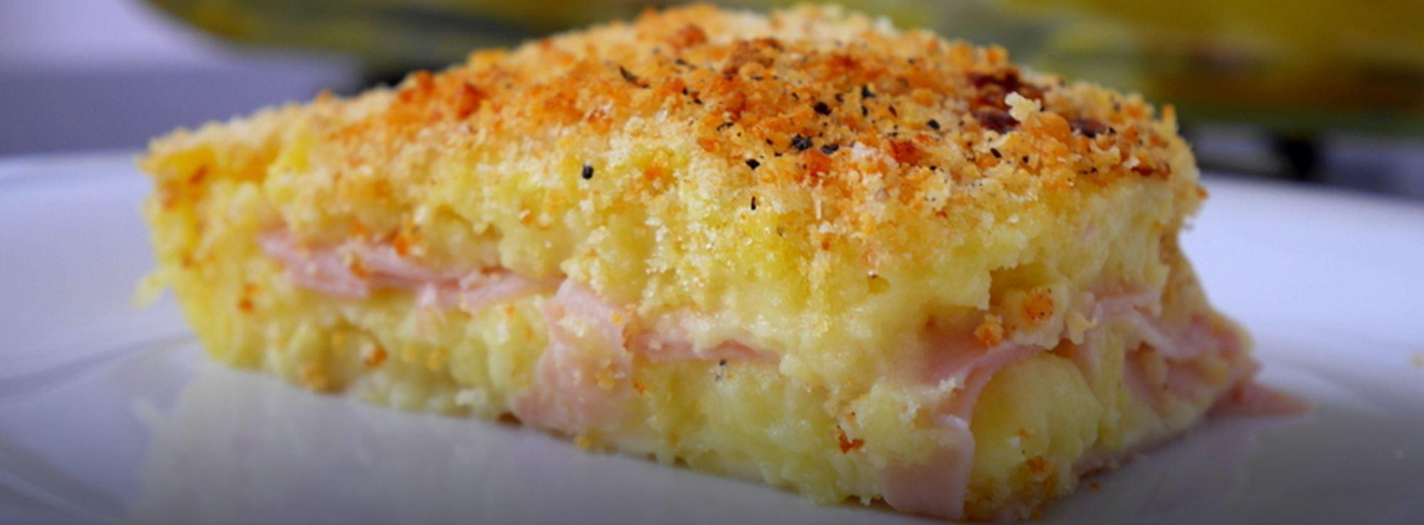 Ricetta: Pitta di patate prosciutto e formaggio