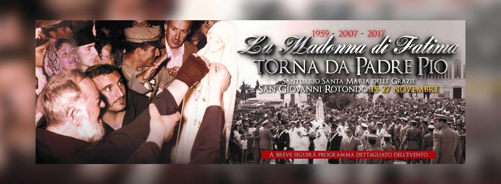 San Giovanni Rotondo: La statua della Madonna di Fatima a San Giovanni Rotondo