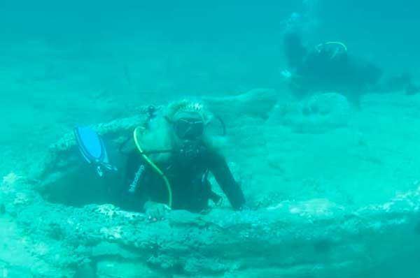 Foresta Pietrificata di Torre Ovo, mistero a pochi metri sott'acqua