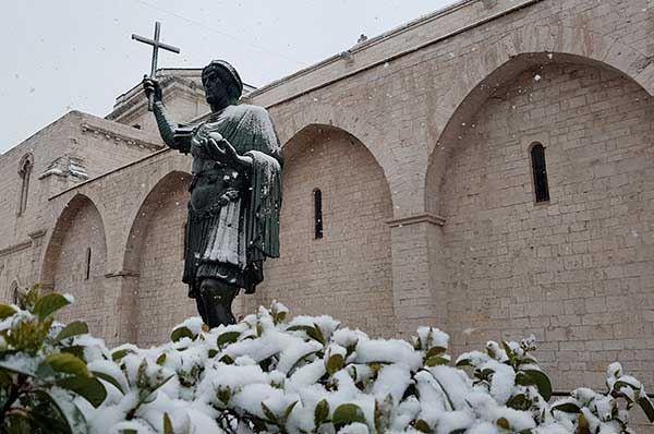 Oggi ancora neve nella BAT, una mattinata incantata dai candidi fiocchi
