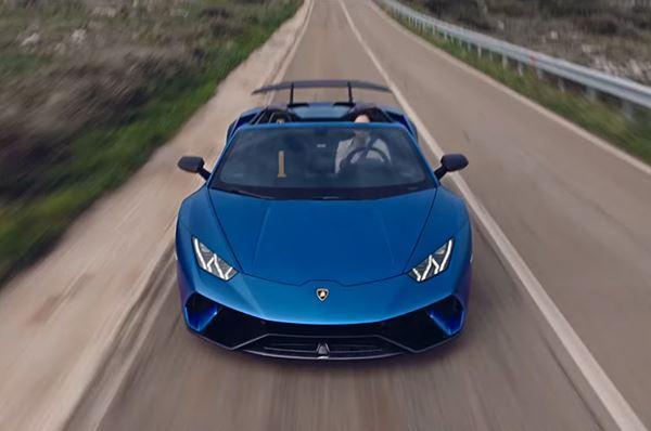 Spot Lamborghini girato in Salento, presentato il modello Spyder
