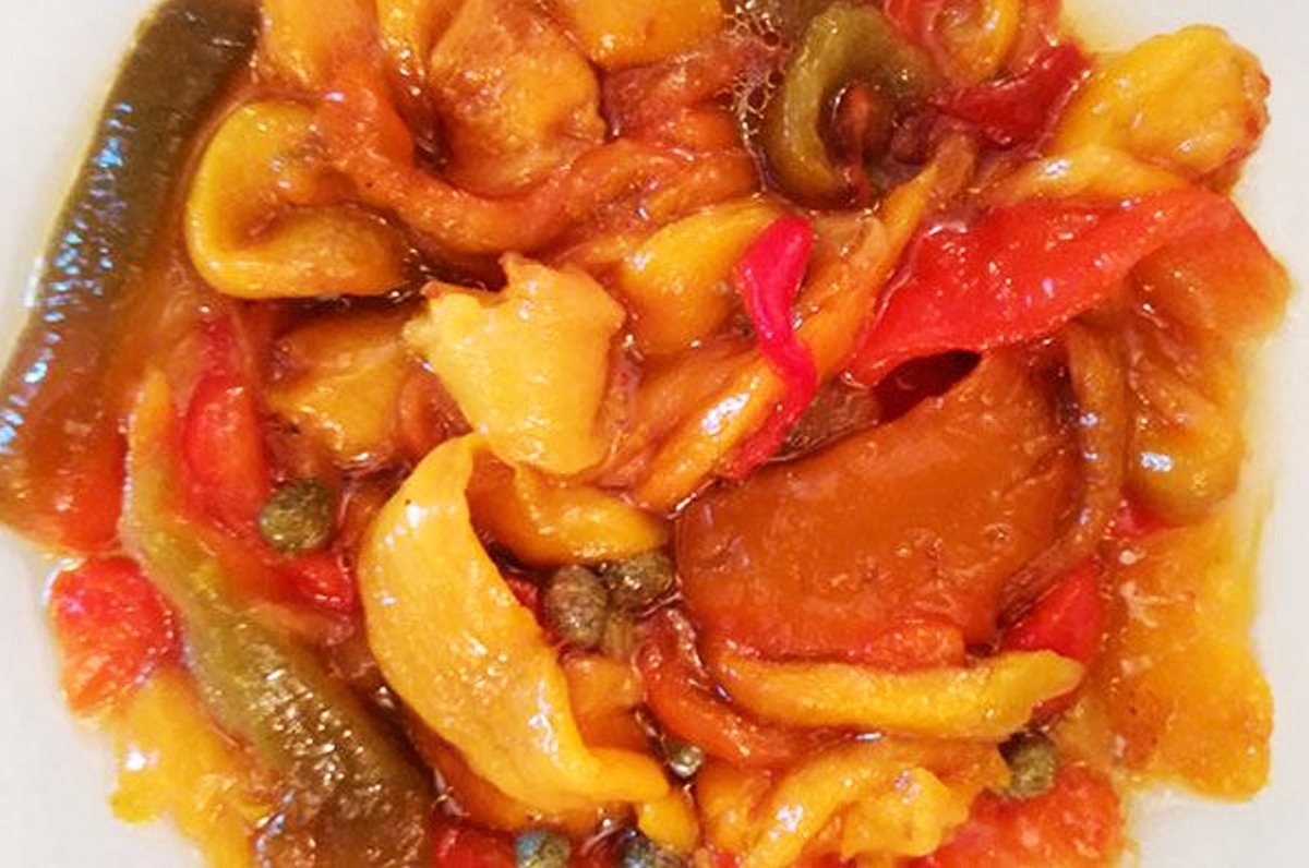 Peperoni a filetti arrostiti al forno