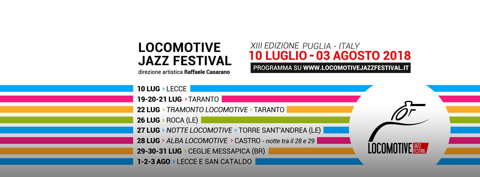 Lecce, Taranto, Ceglie Messapica, Castro: Locomotive Jazz Festival