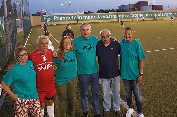 Un calcio alla droga, partita di calcio a Bari per uno scopo solidale